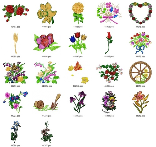 Product picture AMAZING FLORAL EMBROIDERY DESIGNS - SET OF 22 - AD COLLECTION